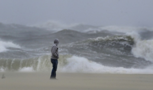 Standing in a hurricane